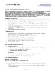 jonathan min chye business systems analyst cv microsoft dynamics