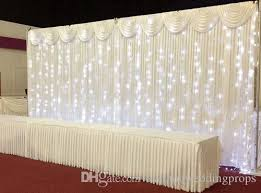 wedding backdrop material decoration flower wall pipe and drape portable tension fabric