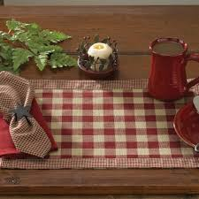 country kitchen table york wine red placemats