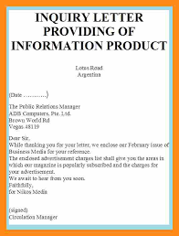 examples of inquiry letters for business grant letter of inquiry