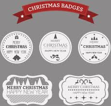 christmas badge shield vector label free vector in adobe