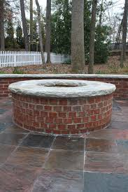 Brick Firepits Brick Firepit With Cap Fireplaces And Firepits