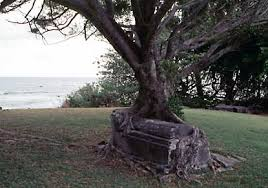 one of the cemetaries at kalaupapa this was the site of a