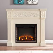 calvert electric fireplace in ivory fe9279