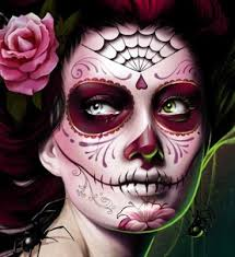 inspiration day of the dead makeup 3d illustration animation
