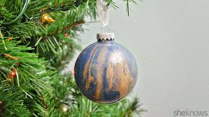 easy marbled glass ornaments are a diy anyone can