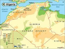 algeria physical map algeria climate map