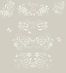 wedding ornament elements vector material vector frames borders