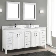 Traditional Corniche 75 White Double Sink Vanity By Studio Bathe