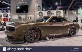 custom dodge challenger customized dodge challenger car at sema stock photo royalty free