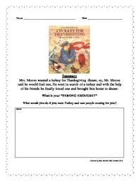 a turkey for thanksgiving by bunting strong thought writing