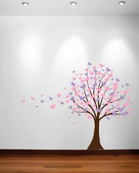 large wall tree baby nursery decal butterfly cherry blossom 1139