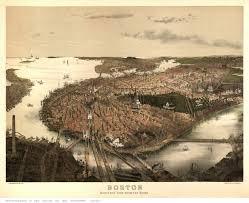Boston Massachusetts Map by Old Bird U0027s Eye Views Of Boston Massachusetts