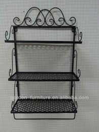 Wrought Iron Wall Shelves Wrought Iron Display Rack Decorative Metal Wall Mounted Shelf