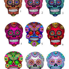 mini sugar skull decals small vinyl day from hollyvisionart on