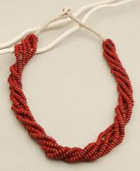 bead rope necklace images Red rope crimson bead necklace nepal cultural elements jpg