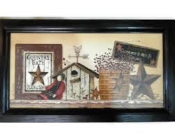 Country Bathroom Decor Primitive Bathroom Etsy
