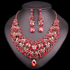 earring necklace ruby images Butterfly ruby necklace earring set jpg
