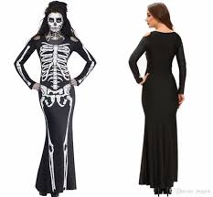 2017 vintage carnival halloween party cosplay women fancy skeleton