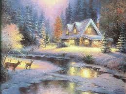 christmas art 09 christmas winter scenes