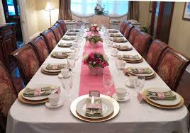 Pink And Gold Table Setting by Bridal Tea Party Garden Rose Collection That Party