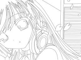 anime coloring pages free bebo pandco