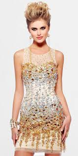 gold u0026 silver sequined sheath party dress pictures photos and