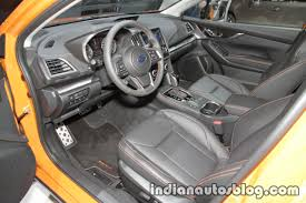 subaru crosstrek interior 2018 euro spec 2018 subaru xv interior at the iaa 2017 indian autos blog