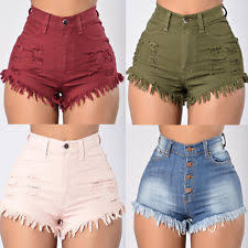 High Waisted Colored Jeans High Waisted Shorts Ebay