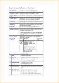 acceptance test report template uat test plan template excel luxury 8 test report template