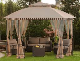 Patio Gazebo Sunjoy Meijer 10 Ft W X 12 Ft D Steel Patio Gazebo Reviews