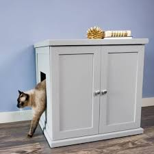 litter box end table the refined feline s kitty enclosed wooden end table litter box
