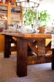 chunky farmhouse table legs harvest tables beams legs and she s