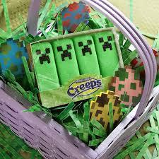 peeps easter basket minecraft marshmallow creeps thinkgeek