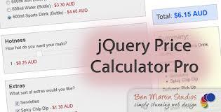 jquery price calculator pro by benmartinstudios codecanyon