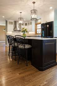 Black And White Kitchen Transitional Kitchen by This Clean And Classic Neutral Kitchen Boasts Black Leather