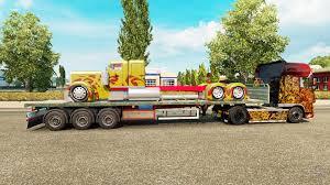 peterbilt semi trucks trailer platform truck peterbilt for euro truck simulator 2