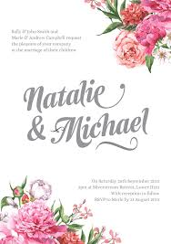 wedding invitations free free floral wedding invitation wellington wedding conference