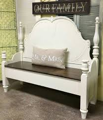 Bench From Headboard Bench Bed Into Bench Bed Reinvented Headboard And Footboard Used