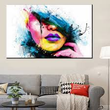 modern paint fashion 60x80cm large wall art canvas painting modern sexy women