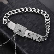 fashion bracelet sets images Couples 39 lock key necklace and bracelet set the distinguished nerd jpg