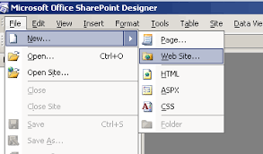 office sharepoint designer 2007 how to create a website using sharepoint designer 2007