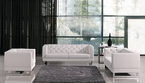 Tufted Modern Sofa by Divani Casa Windsor Modern Tufted Eco Leather Sofa Set Living Room
