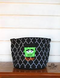 personalized halloween frankenstein trick or treat bag for kids