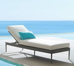 Blue Chaise Cammeray All Weather Wicker Single Chaise Pottery Barn