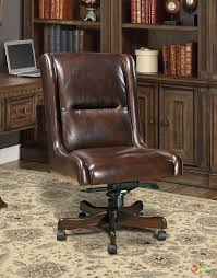 brown leather armless desk chair distressed brown top grain leather executive chair with height back