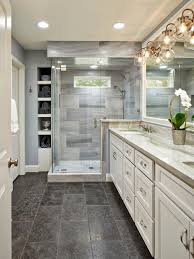 Master Bathroom Shower Tile Ideas by This Beautiful Master Bathroom Pulls Elements From Traditional And