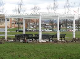 White Vinyl Pergola by Custom Vinyl U0026 Wood Pergolas For Patio U0026 Garden Homestead Structures