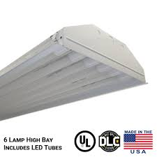 13 800 lumens t8 led linear high light fixture with 6 tubes