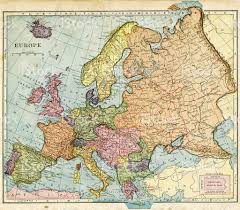 Eastern Europe Map Map From 1896 Of Europe Stock Photo Istock
